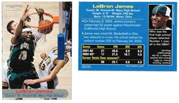 Lot of (500) 2003 Lebron James SI for Kids Issue with Lebron Rookie Card Inside