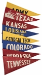 1948 Leaf Football Premium Felt Pennants Collection (8 Different)