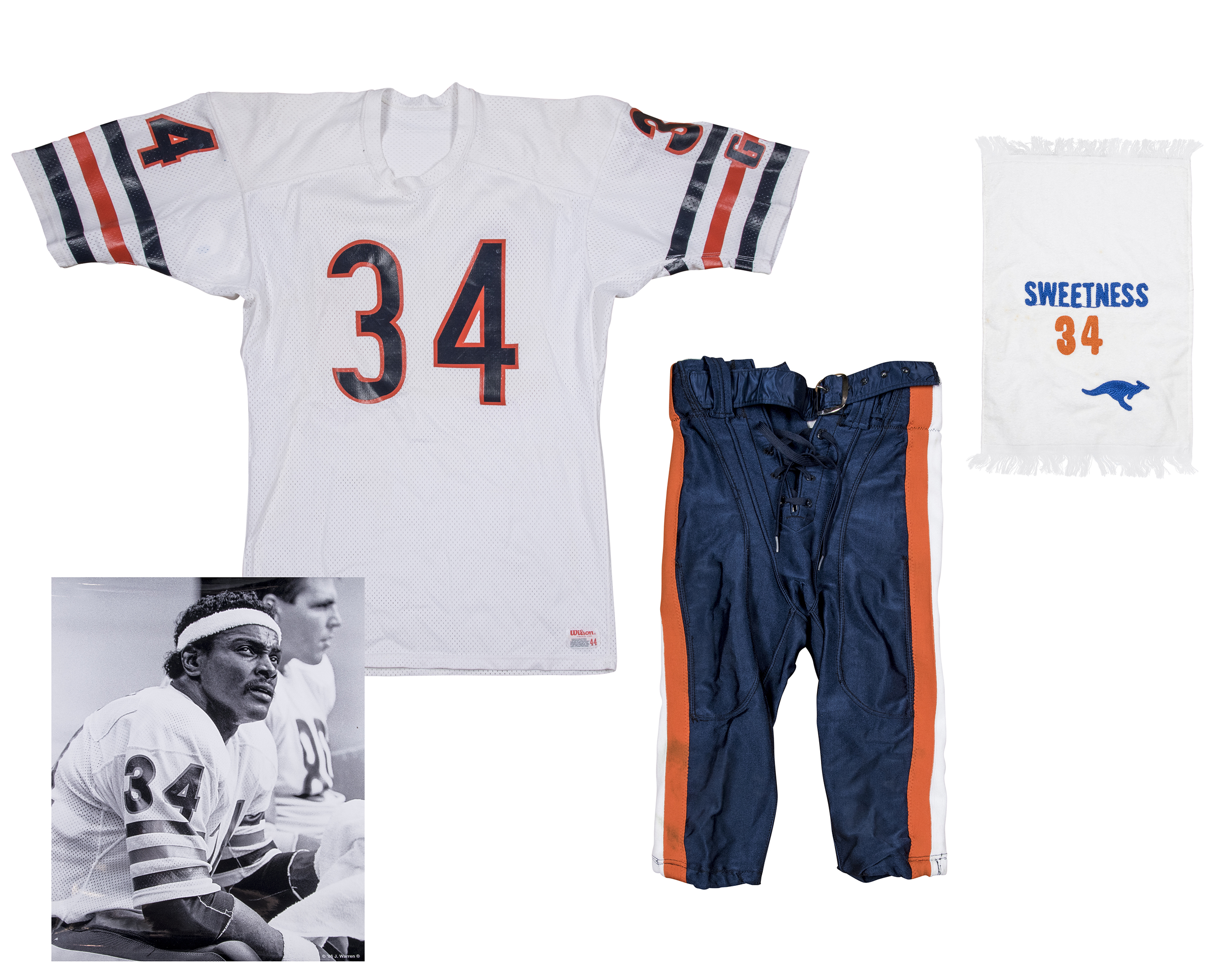 56e679c296d 1984-87 Walter Payton Game Used Chicago Bears Road Uniform - Jersey, Pants  and