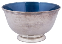 1963 World Series Silver Bowl Presented To Yogi Berra By The Chrysler Corporation (Berra LOA)