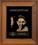 1999 Ted Williams Hall Of Fame Hitters Induction Plaque Presented To Yogi Berra (Berra LOA)