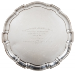 1957 Silver Plate Award Presented To Yogi Berra By The BNai Brith At The Boston Sports Lodge Annual Dinner (Berra LOA)