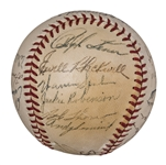 1949 National League All-Stars Team Signed ONL Frick Baseball With 18 Signatures Including Robinson and Campanella (PSA/DNA)