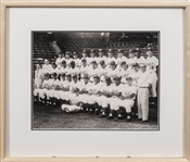 Ultra Rare 1953 Brooklyn Dodgers Team Signed Photograph in Framed Display With 21 Signatures Including Robinson, Snider & Hodges(Beckett & JSA)