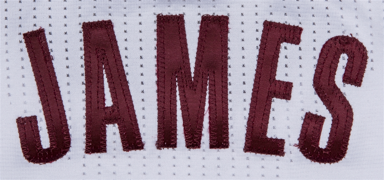 2014-15 LeBron James Game Used Cleveland Cavaliers White Jersey Worn On 11/7/14 At Denver - First Season Back In Cleveland! Photo Matched (MeiGray)