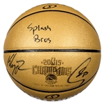 "2015 Stephen Curry and Klay Thompson Dual Signed and Inscribed ""Splash Bros"" Limited Edition Basketball (Fanatics)"