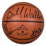 1985-86 Boston Celtics Team Signed Spalding Basketball With 12 Signatures Including Bird, McHale, Parish & Walton (PSA/DNA)