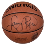 Larry Bird Autographed Larry Bird Hall of Fame Limited Edition Basketball 76/133 (Beckett)