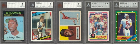 1888-2014 Assorted Brands Multi-Sports Collection (40) Including Hall of Famers