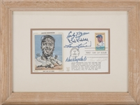1982 Jackie Robinson Cooperstown First Day Cover Multi-Signed With 5 Signatures Including Wynn, Hubbell, Drysdale and Slaughter (PSA/DNA)