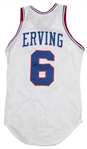 1979-86 Julius Erving Game Used Philadelphia 76ers Home Jersey (MEARS A7)