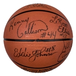 1993-94 Charlotte Hornets Team Signed Basketball With 10 Signatures Including Mourning, Johnson & Curry (JSA)