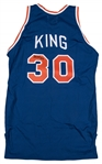 1986-87 Bernard King Game Used and Signed New York Knicks Road Jersey (Beckett)