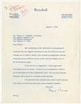 1960 Ford Frick Signed Letter To The Los Angeles Dodgers (PSA/DNA)