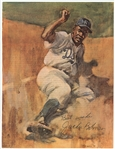 Jackie Robinson Signed And Inscribed Magazine Page (Beckett)