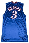 2005-06 Allen Iverson Game Used Philadelphia 76ers Alternate Road Jersey