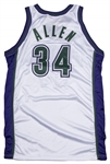 2001-02 Ray Allen Game Used Milwaukee Bucks Home Jersey