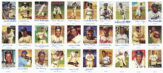 "1991 Ron Lewis ""Negro Leagues Postcards"" Complete Set (30) Including Twenty-Six Signed Cards (Beckett PreCert)"