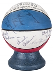 1972-73 Kentucky Colonels ABA Eastern Division Champions Team Signed Ceramic Basketball With 22 Signatures Including Gilmore, Issel & Dampier (PSA/DNA)