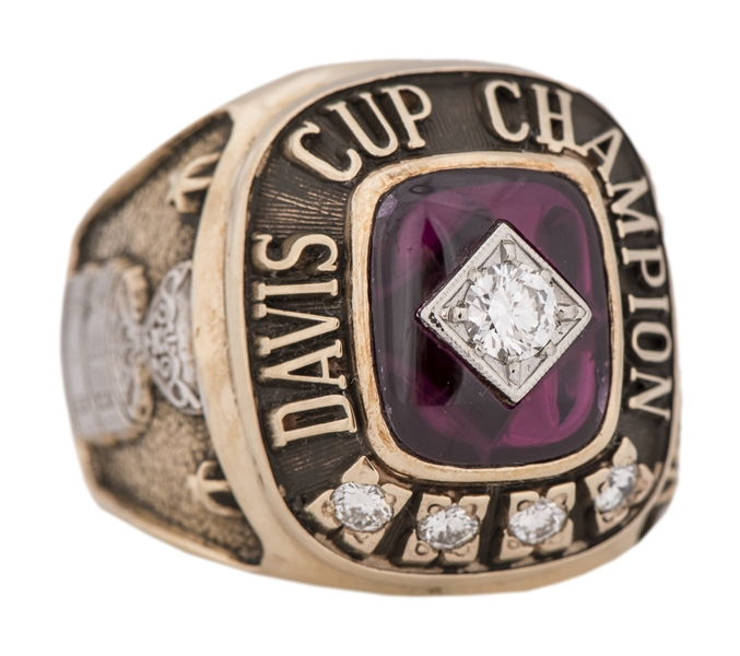 1969 Davis Cup World Championship Player's Ring - Arthur Ashe