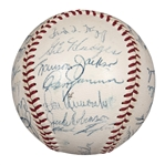 1956 National League Champion Brooklyn Dodgers Team Signed ONL Baseball With 29 Signatures Including Robinson, Campanella and Alston (PSA/DNA & Alston Family LOA)