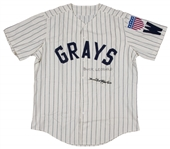 "Buck Leonard and James ""Cool Papa"" Bell Dual Signed Homestead Grays Replica Jersey (PSA/DNA)"