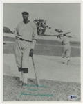 "James ""Cool Papa"" Bell Signed/Inscribed B&W 8x10 Photograph (Beckett)"
