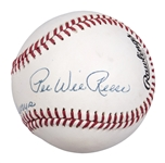 "Pee Wee Reese Single Signed and Inscribed ""Best Always"" ONL Baseball (PSA/DNA)"