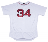 2016 David Ortiz Game Used, Signed & Inscribed Boston Red Sox Home Jersey Worn For Home Run #536 On 9/12/16 Tying Mickey Mantle (MLB Authenticated & Fanatics)