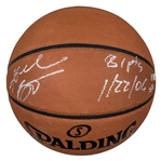 "Kobe Bryant Autographed and Inscribed ""81 Pts"" Spalding Basketball (Panini COA)"