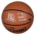 "Kyrie Irving Autographed and Inscribed ""15-16 NBA Champ"" Spalding Basketball (Panini COA)"