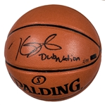 "Kevin Durant Autographed and Inscribed ""Dub Nation"" Spalding Basketball (Panini COA)"