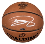 LeBron James Autographed Official Spalding Basketball With 2016 NBA Champions Logo (UDA)