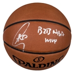 "Stephen Curry Signed and Inscribed ""B2B NBA MVP"" Spalding Basketball (Fanatics)"