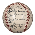 1949 National League Champion Brooklyn Dodgers ONL Ford Frick Team Signed Baseball With 23 Signatures Including Robinson, Campanella & Reese (Beckett)