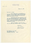 1968 Jackie Robinson Signed Typed Letter Regarding Son (Beckett)