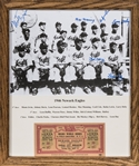 1946 Newark Eagles Team Signed Framed Photographed Signed by 6 - Irvin, Manning, Lewis, Doby, Harvey and Day (Beckett)