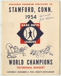 1954 Jackie Robinson Autographed Babe Ruth League World Champions Souvenir Program (Beckett)