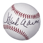 Hank Aaron Autographed Commemorative Civil Rights Game Baseball (MLB Authenticated)
