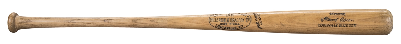 1969 Hank Aaron Game Used and Signed Hillerich & Bradsby A99 Model Bat (PSA/DNA GU 9 & Beckett)