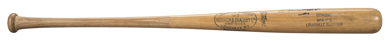 1960 Willie Mays Game Used and Signed Hillerich & Bradsby S2 Model Bat (PSA/DNA GU 9 & Beckett)