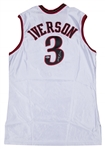 2002-03 Allen Iverson Game Used and Signed Philadelphia 76ers Home Jersey (Beckett)