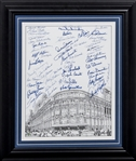 Ebbets Field Multi-Signed Framed Lithograph with 50+ Signatures Including Snider, Miksis and Erskine (Beckett PreCert)