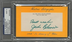 "2010 Jackie Robinson Historic Autographs ""In Memory Of"" Signed Cut ""1/1"" – PSA/DNA MINT 9"