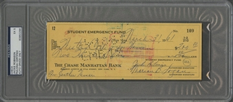 1961 Jackie Robinson Signed And Encapsulated Check (PSA/DNA EX 5)