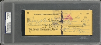 1961 Jackie Robinson Signed Check To Help Pay Tuition For A Student At Florida A&M (PSA/DNA)-And Supporting Documents