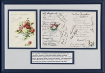 1949 Brooklyn Dodgers Team Signed Birthday Card With 25 Signatures Including Jackie Robinson and Branch Rickey (JSA)