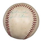 "Jackie Robinson Autographed and Inscribed ""Best Wishes"" OAL Cronin Baseball (PSA/DNA)"