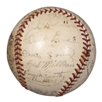 """The Jackie Robinson Story"" Cast Signed Baseball With 18 Signatures Including Jackie Robinson (PSA/DNA)"