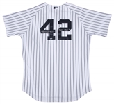 2011 Mariano Rivera Game Used and Signed ALDS New York Yankees Pinstripe Jersey Worn on 10/06/2011 Vs. Detroit Tigers (MLB Authenticated & Steiner)